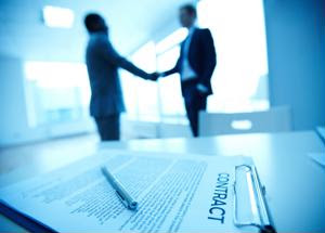 Presenting customers with a sample contract could help close the deal